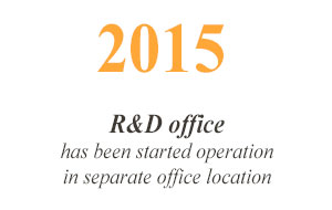 2015 R&D office has been started operation in separate office location